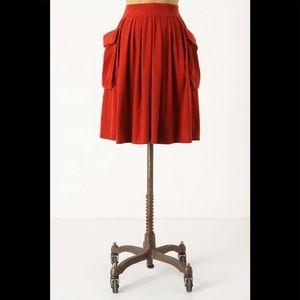 Maeve Red Corduroy Skirt
